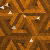 ArtScape 7' Gold Triangles Pool Table Cloth
