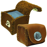 Deluxe Leather Chalk Holder, Brown