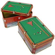 Decorative Chalk Tin, Snooker Table Design