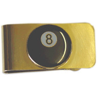 Sterling 8-Ball Money Clip