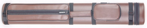 Sterling Brown Hard Pool Cue Case for 2 Butts, 4 Shafts