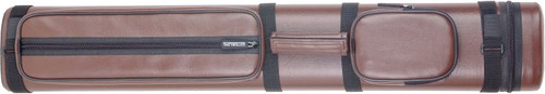 Sterling Brown Hard Pool Cue Case for 3 Butts, 6 Shafts