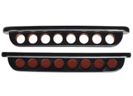Sterling Deluxe Two-Piece Wall Rack, Black, 8 Cue