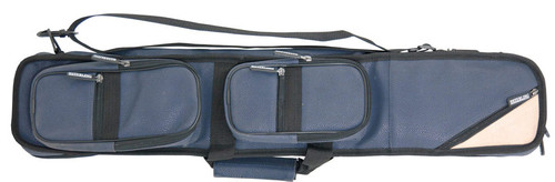 Sterling Blue Angora Pool Cue Case for 4 Cues