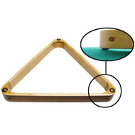 Deluxe Maple Pool Ball Triangle w/Gliders