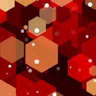 ArtScape 7' Red Hexagons Pool Table Cloth