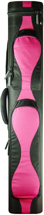 Sterling Black/Pink Wave Pool Cue Case for 2 Cues