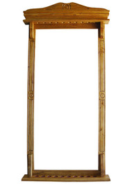 Sterling Deluxe Colonial Wall Rack, Solid Oak, 10 Cue