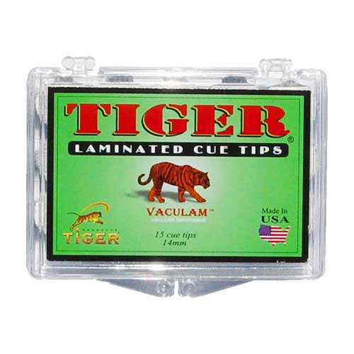 Tiger Laminated Tips, Medium,14mm (Box of 12)