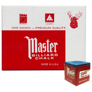 Master Chalk, Blue, 12-Piece Box