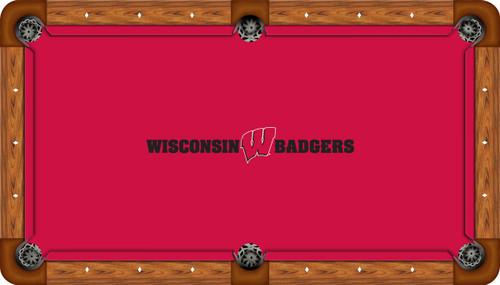 University of Wisconsin Badgers 8' Pool Table Felt