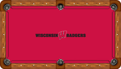 University of Wisconsin Badgers 9' Pool Table Felt