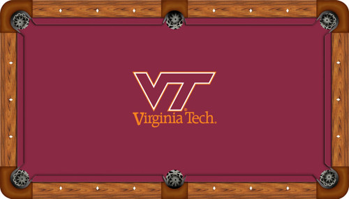 Virginia Tech University Hokies 9' Pool Table Felt