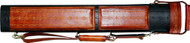 J Flowers Tribute Pool Cue Case 2x4 Flower Style Black/Brown