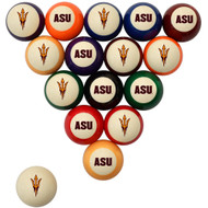 Arizona State Sun Devils Billiard Ball Set - Standard Colors