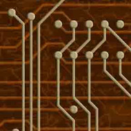 ArtScape 8' Gold Circuit Board Pool Table Cloth