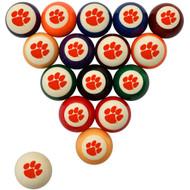 Clemson Tigers Billiard Ball Set - Standard Colors