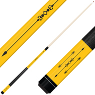 Forged Etched Series ET01 Custom Engraved Yellow Pool Cue – Black