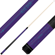 Forged Etched Series ET02 Custom Engraved Purple Pool Cue – Tiffany Blue