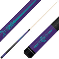 Forged Etched Series ET10 Custom Engraved Purple Pool Cue – Tiffany Blue