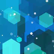 ArtScape 8' Blue Hexagons Pool Table Cloth