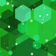 ArtScape 9' Green Hexagons Pool Table Cloth