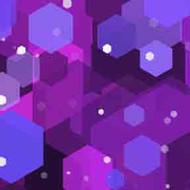 ArtScape 9' Purple Hexagons Pool Table Cloth
