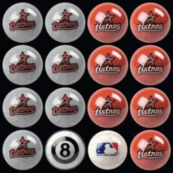 Houston Astros Pool Balls