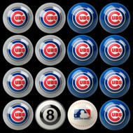 Chicago Cubs Pool Balls