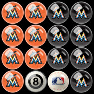 Miami Marlins Pool Balls