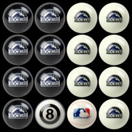 Colorado Rockies Pool Balls