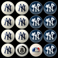 NY Yankees Pool Balls