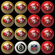 San Francisco 49ers Pool Balls