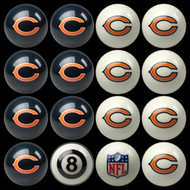 Chicago Bears Pool Balls