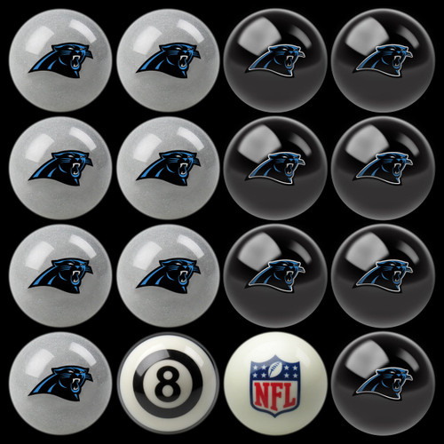 Carolina Panthers Pool Balls