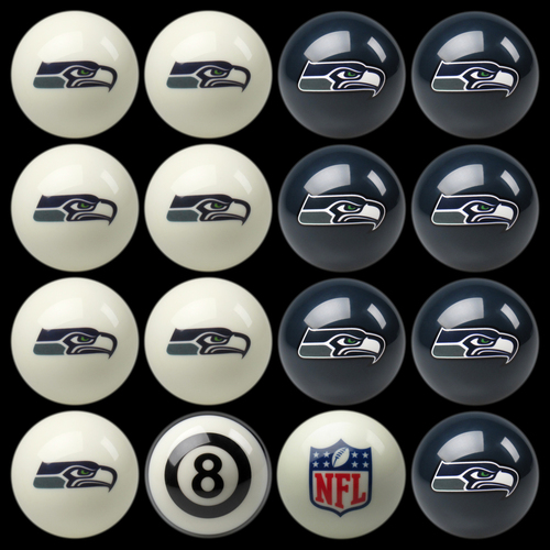 Seattle Seahawks Pool Balls