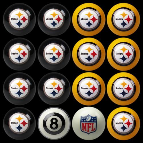 Pittsburgh Steelers Pool Balls