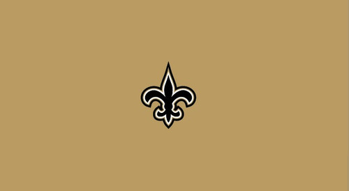 New Orleans Saints Pool Table Felt for 9 foot table
