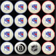New York Rangers Pool Balls