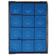 Silver Cup Chalk, Electric Blue, 12-Piece Box