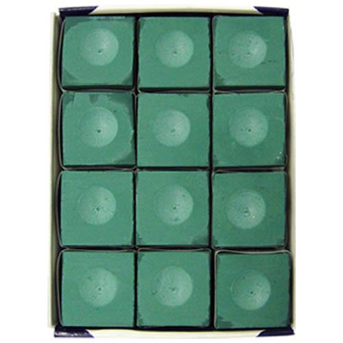 Silver Cup Chalk, Green, 12-Piece Box