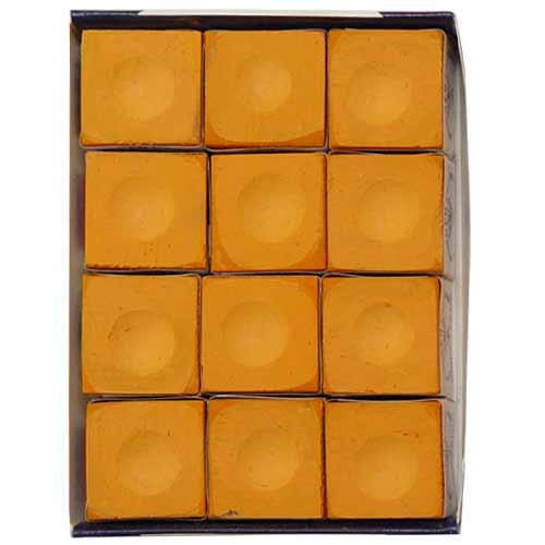 Silver Cup Chalk, Orange, 12-Piece Box