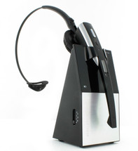 Eartec Office X300 Headset on Desk Charger