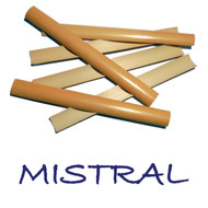 Mistral Premium Gouged English Horn Cane - 6 pieces