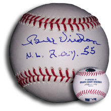 "Bill Virdon Autographed MLB Baseball ""NL ROY 55"" Pirates"