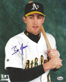 Ben Grieve Autographed Oakland A's Home Studio 8x10 Photo