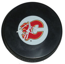 Derek Smith Autographed Calgary Flames Hockey Puck