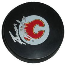 Roman Horak Autographed Calgary Flames Hockey Puck