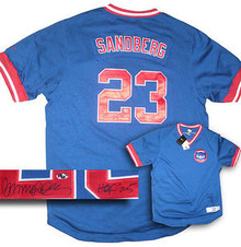 Ryne Sandberg Autographed Chicago Cubs Cooperstown Jersey HOF 05