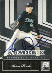 Aaron Poreda Signed 2007 Donruss Elite Card Padres